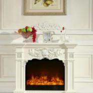 FS-T265白色壁炉红木色壁炉图片