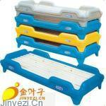 塑料彩色幼儿重叠床图片