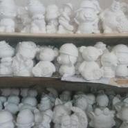 石膏彩绘娃娃白坯批发图片