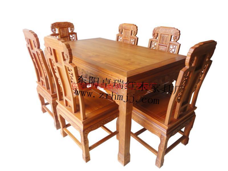 浙江金华缅花餐桌象头西餐桌6件套红木家具厂家批发供应辽宁餐桌哪里有卖非洲花梨