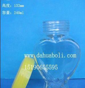 240ml心形蜂蜜玻璃瓶图片