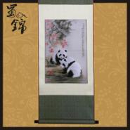 蜀锦蜀绣蜀锦秋之恋熊猫国宝图图片