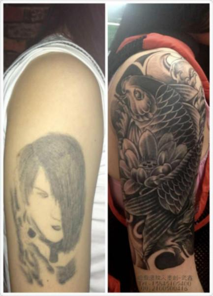 传统小臂鲤鱼纹身图片_传统小臂鲤鱼纹身图片大全_小