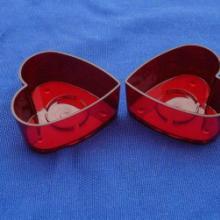 供应中号心形红色烛台 中号心形红色烛台/塑料蜡烛杯