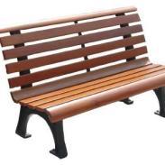 吉首防腐木公园椅图片