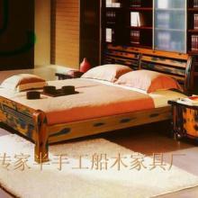供应百年老船木双人罗汉大床