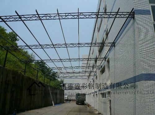 供应宜章县彩钢棚搭建、彩钢棚多少钱一平方、雨篷