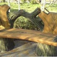 仿木花架仿木栏杆仿木亭子仿木小品图片