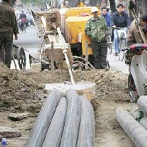 柳林县非开挖顶管施工图片