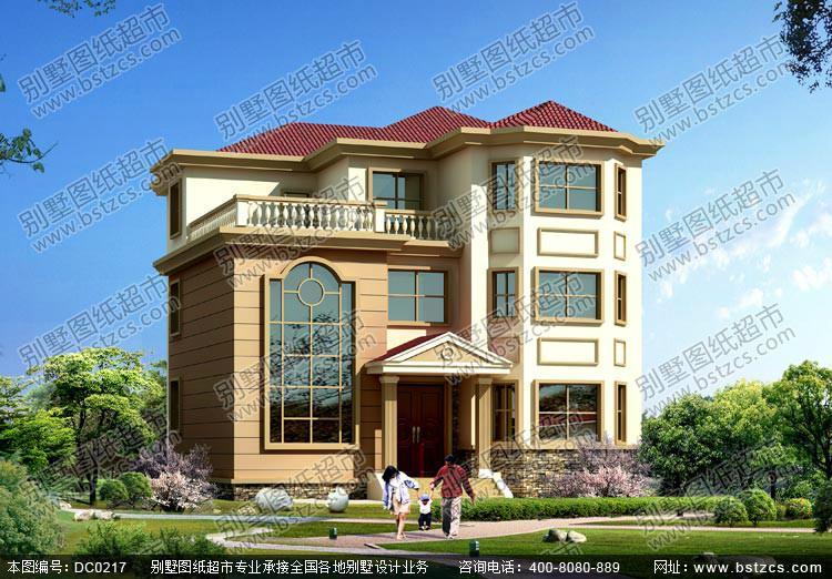 ... 求乡村一层二层三层小别墅外观效果设计平面图 全