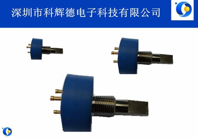 TOPVR品牌357扁轴电位器单圈无极旋转导电塑料电位器