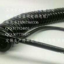 供应梅州TPU螺旋电缆/PU弹簧线/弹弓线/曲线/电子手轮用弹簧线批发