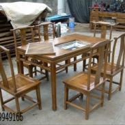 南榆木茶桌图片