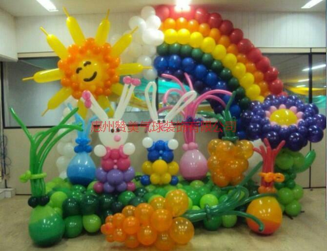 供应惠州最好的宝宝百日宴气球装饰