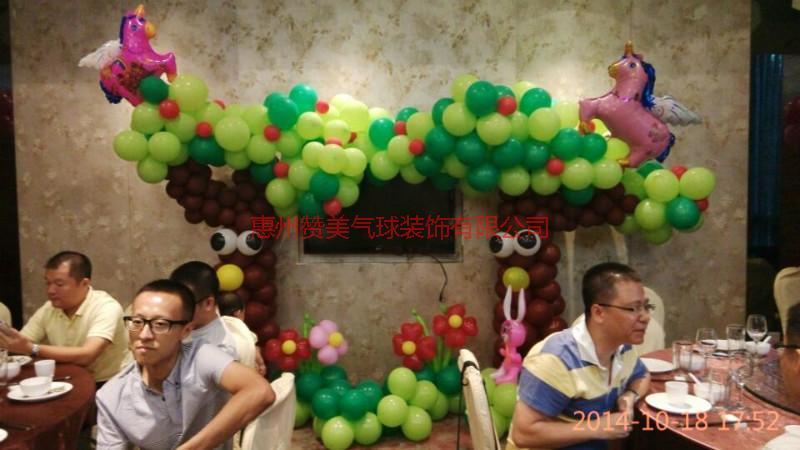 供应河源周岁气球装饰,生日气球装饰,婚礼气球装饰。