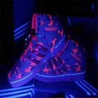 供应五星行荧光绿的鞋荧光增高鞋透明荧光鞋荧光休闲鞋