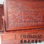 木雕落地屏风生产厂家图片
