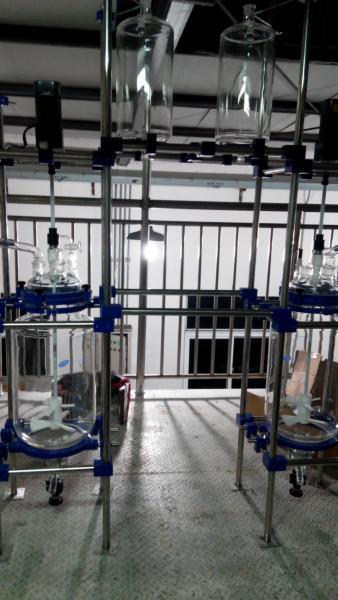 供应10L单层玻璃反应器,10L单层玻璃反应器厂家,非标单/双层玻璃反应釜