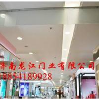 挡烟垂壁厂家 济南选择龙江消防必备 固定电动式挡烟垂壁材质为防火玻璃、硅胶布