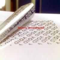 供应VOID防伪标签纸