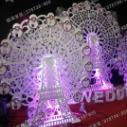pvc橱窗道具婚庆道具自动幸福风车图片