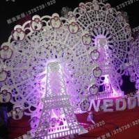 pvc橱窗道具婚庆道具自动幸福风车
