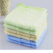 供应亲子熊竹纤维方巾 幼儿园专用童巾图片