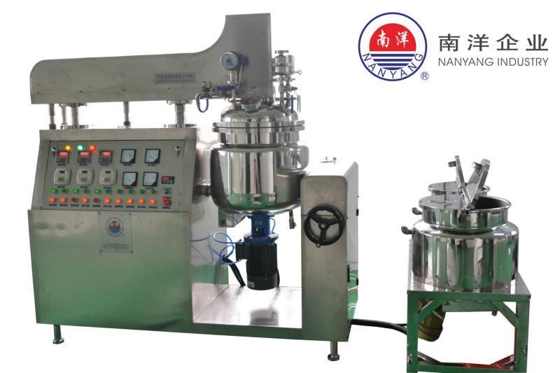 供应100L提升式真空乳化机 移动式真空加热膏霜乳化机
