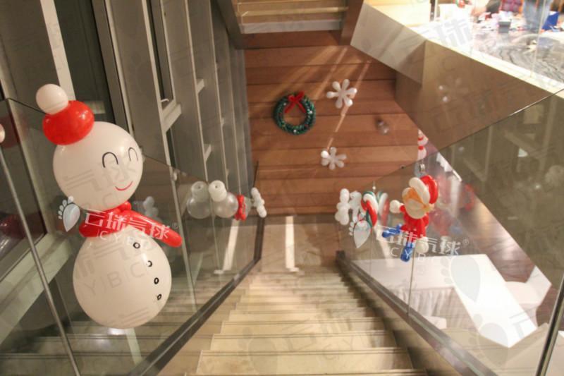 供应圣诞元素气球/圣诞节气球装饰/节日气球装饰/楼盘装饰气球