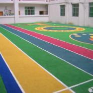 幼儿园户外塑胶颗粒跑道/epdm跑道图片