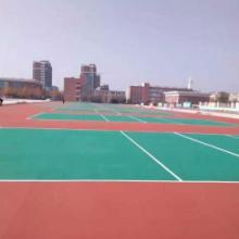 丙稀酸羽毛球场 2.0毫米羽毛球场彩色涂料铺装 世名地坪图片