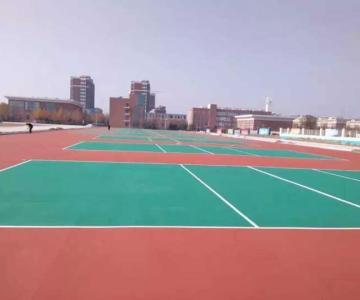 供应篮羽球场油漆、网球场表面的涂料能自己刷吗?图片