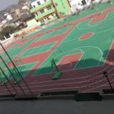 供应深圳篮球场漆施工,彩色篮球场专用油漆刷漆、造一片网球场地多少钱