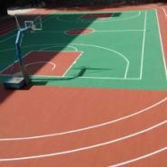 羽毛球场地刷涂地坪漆图片