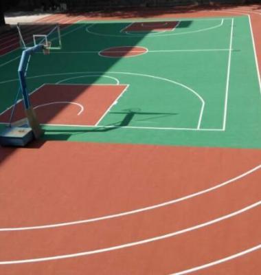广州室外蓝羽球场油漆施工图片/广州室外蓝羽球场油漆施工样板图 (4)