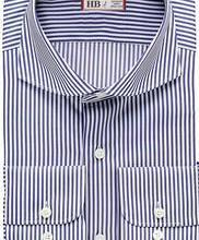供应北京定制进口面料条纹衬衫