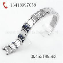 供应女式表带,四珠实心钢带,生产厂家精钢表链,珠宝扣,智能手表手环图片