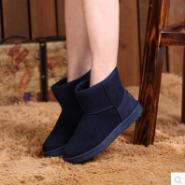 季加绒保暖女鞋短筒靴女雪地靴图片