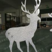 PVC闪金雕刻小鹿婚庆橱窗道具摆件图片