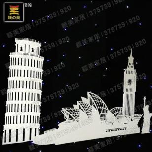 婚庆PVC道具世界名筑斜塔图片