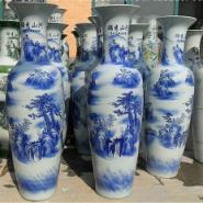 西安青花落地大花瓶图片