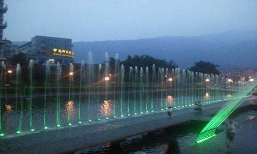 供应雅安三雅园音乐喷泉工程承包商 甘肃兰州水景喷泉设计施工图片