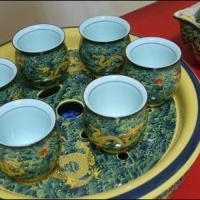 供应西安商务礼品-青花瓷茶具