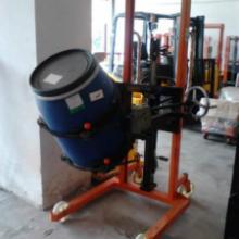 供应抱箍式油桶倒料车 福建C型钢门架可倾式油桶升高车批发