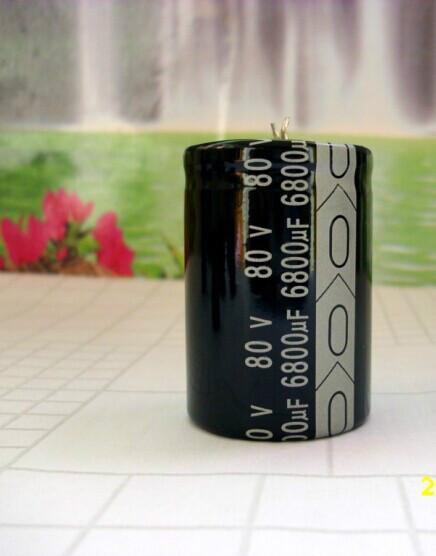 供应牛角电解电容6800UF80V 30x50/焊片型铝电解电容器