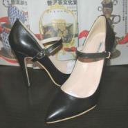 时尚正装高跟鞋真皮凉鞋尖头单鞋图片