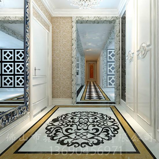 供应走廊拼花瓷砖图片