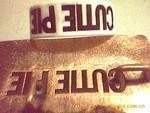 供应加工喷字铜模