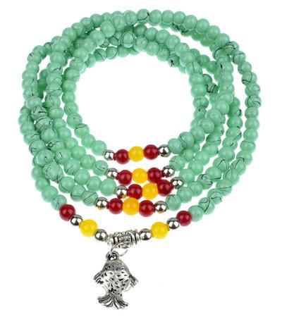 供应多层绿松石手链价格/绿松石手链出厂价多少?哪里有绿松石饰品卖?