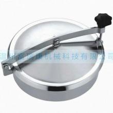 供应卫生不锈钢圆形人孔盖,YAB人孔盖,常压式圆形人孔盖,快开式人孔图片